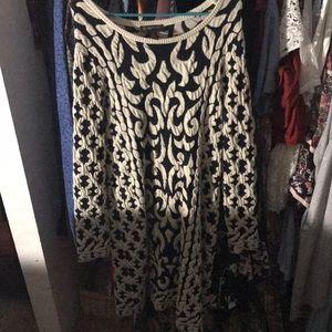 Knee length long sleeve dress